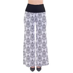 Scarab Pattern Egyptian Mythology Black And White So Vintage Palazzo Pants by genx