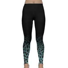 Ombre Leopard Print Classic Yoga Leggings by greenthanet