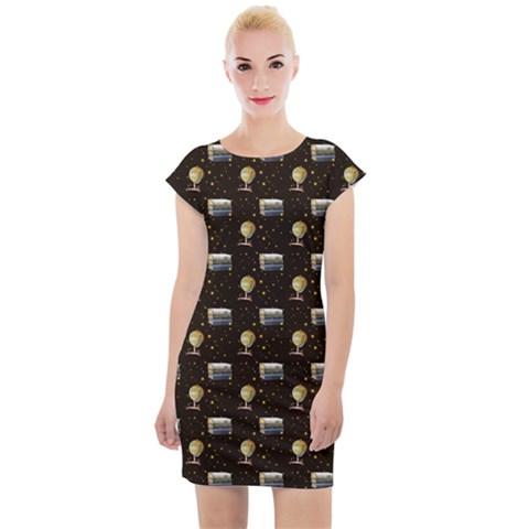 J62 Cap Sleeve Bodycon Dress