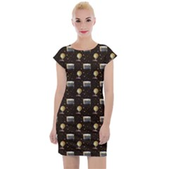J62 Cap Sleeve Bodycon Dress by greenthanet