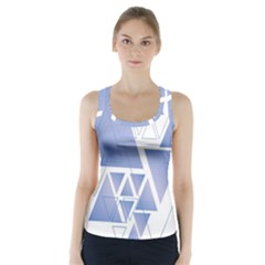 Triangle Geometry Racer Back Sports Top