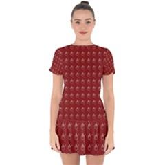 Arriere Avec Motif Drop Hem Mini Chiffon Dress