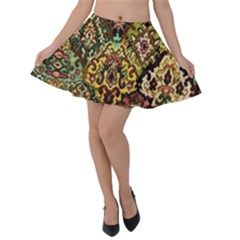Tapestry Velvet Skater Skirt by greenthanet