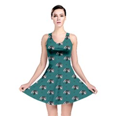 Teal Badgers Reversible Skater Dress by chihuahuadresses