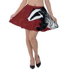 Badger Velvet Skater Skirt by greenthanet