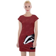 Red Badgers Cap Sleeve Bodycon Dress by chihuahuadresses