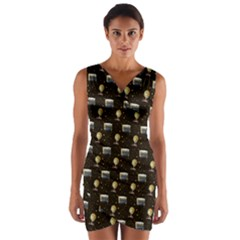 Explorer Wrap Front Bodycon Dress by chihuahuadresses