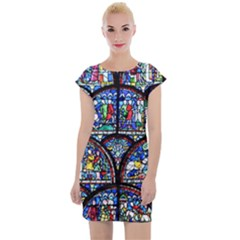 Stained Glass Cap Sleeve Bodycon Dress by chihuahuadresses