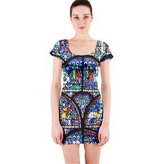 Stained Glass Short Sleeve Bodycon Dress by chihuahuadresses