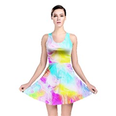 Background Drips Fluid Colorful Reversible Skater Dress