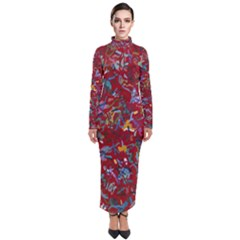 Painting Abstract Painting Art Turtleneck Maxi Dress by Bejoart