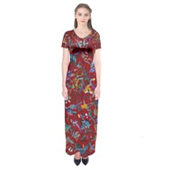 Painting Abstract Painting Art Short Sleeve Maxi Dress by Bejoart