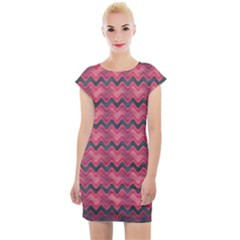 Background Pattern Structure Cap Sleeve Bodycon Dress by Bejoart