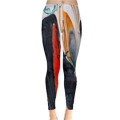 Art Modern Painting Background Leggings