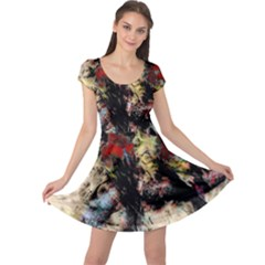 Ara Bird Parrot Animal Art Cap Sleeve Dress