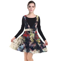Ara Bird Parrot Animal Art Plunge Pinafore Dress by Bejoart