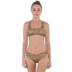 Esparto Tissue Braided Texture Criss Cross Bikini Set