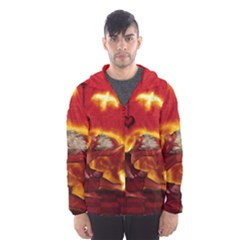 Wonderful Fairy Of The Fire With Fire Birds Hooded Windbreaker (men) by FantasyWorld7