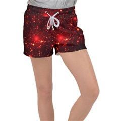 Firework Star Light Design Women s Velour Lounge Shorts by Bejoart