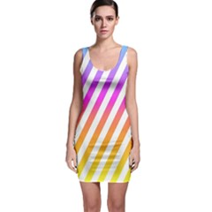 Abstract Lines Mockup Oblique Bodycon Dress
