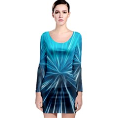 Background Structure Lines Long Sleeve Bodycon Dress by Bejoart