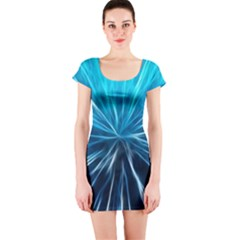 Background Structure Lines Short Sleeve Bodycon Dress by Bejoart