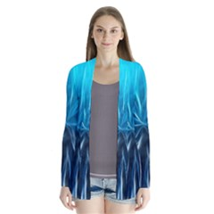 Background Structure Lines Drape Collar Cardigan by Bejoart