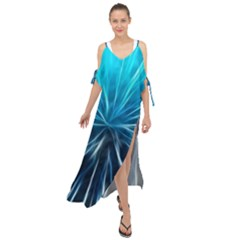Background Structure Lines Maxi Chiffon Cover Up Dress by Bejoart