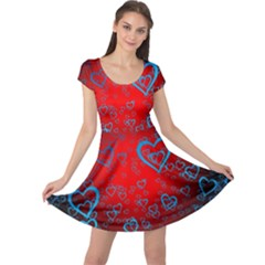 Heart Light Course Love Cap Sleeve Dress