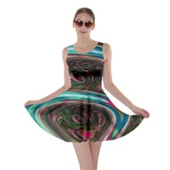 Streak Colorful Iridescent Color Skater Dress