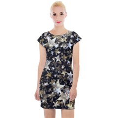 Background Star Christmas Advent Cap Sleeve Bodycon Dress by Bejoart