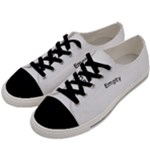 Beaded Black Yarn Men s Low Top Canvas Sneakers