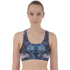 Angel Wings Blue  Back Weave Sports Bra by CrypticFragmentsDesign
