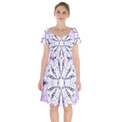 Digital Art Art Artwork Abstract Short Sleeve Bardot Dress