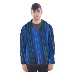 Abstract Fractal Pattern Lines Hooded Windbreaker (men) by Bejoart