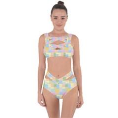 Lego Background Bandaged Up Bikini Set  by Wegoenart