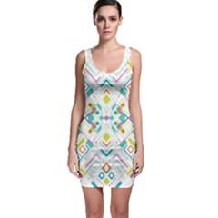 Graphic Design Geometry Shape Pattern Geometric Bodycon Dress