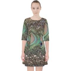 Peacock Tail Feathers Pocket Dress by Wegoenart