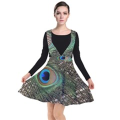 Peacock Tail Feathers Plunge Pinafore Dress by Wegoenart
