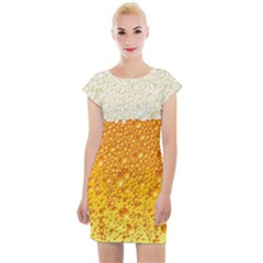 Bubble Beer Cap Sleeve Bodycon Dress by Wegoenart
