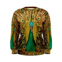 Peacock Feather Bird Peafowl Women s Sweatshirt by Wegoenart