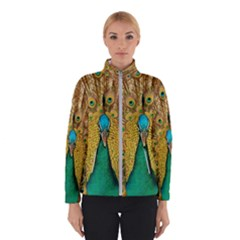 Peacock Feather Bird Peafowl Winter Jacket by Wegoenart
