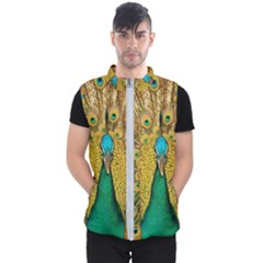 Peacock Feather Bird Peafowl Men s Puffer Vest by Wegoenart