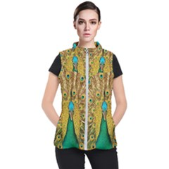 Peacock Feather Bird Peafowl Women s Puffer Vest by Wegoenart