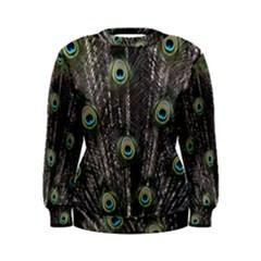 Background Peacock Feathers Women s Sweatshirt by Wegoenart