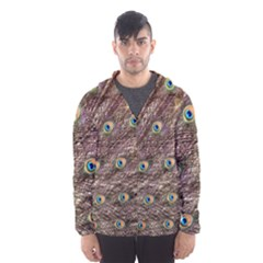 Peacock Feathers Wheel Plumage Hooded Windbreaker (men) by Wegoenart