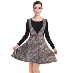 Peacock Feathers Wheel Plumage Plunge Pinafore Dress by Wegoenart