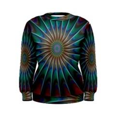 Fractal Peacock Rendering Women s Sweatshirt by Wegoenart
