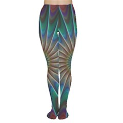 Fractal Peacock Rendering Tights by Wegoenart