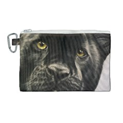 Panther Canvas Cosmetic Bag (large) by ArtByThree